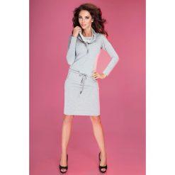 Chantal Sukienka sportowa z golfem - jasna szara pętelka. Szare sukienki sportowe marki numoco, z golfem, sportowe. Za 119,99 zł.