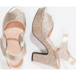 Rzymianki damskie: Shoe The Bear SANDY Sandały na obcasie gold