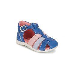 Sandały Dziecko  Kickers  BIGFLY. Niebieskie sandały dziewczęce marki Kickers, z kauczuku, na sznurówki. Za 202,30 zł.
