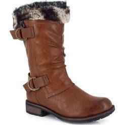 """Buty zimowe damskie: Kozaki """"Cyrielle"""" w kolorze brązowym"""