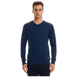 Galvanni Sweter Męski Wodonga Xl Ciemnoniebieski. Niebieskie swetry klasyczne męskie GALVANNI, m, z wełny. W wyprzedaży za 269,00 zł.