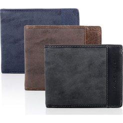 Brązowy skórzany portfel męski DESTIN HAROLD'S. Brązowe portfele męskie Harold's, z materiału. Za 49,90 zł.