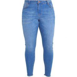 Boyfriendy damskie: Zizzi CROPPED AMY Jeans Skinny Fit light blue denim