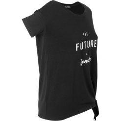Bluzki, topy, tuniki: T-shirt z nadrukiem, krótki rękaw bonprix czarny