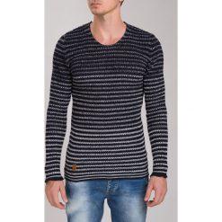 Granatowy Sweter MS3029. Szare swetry klasyczne męskie marki Fasardi, m. Za 81,75 zł.