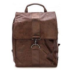 Bobby Black Plecak Męski Brązowy. Brązowe plecaki męskie marki Bobby Black, ze skóry ekologicznej. Za 244,00 zł.