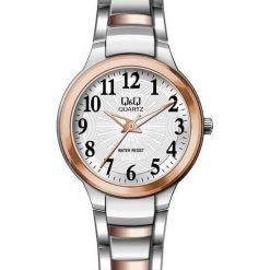 Zegarek Q&Q Damski F499-414 srebrny. Szare zegarki damskie Q&Q, srebrne. Za 142,78 zł.
