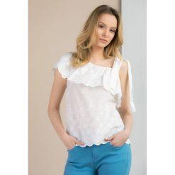 Bluzki asymetryczne: Bluzka odsłaniająca ramię