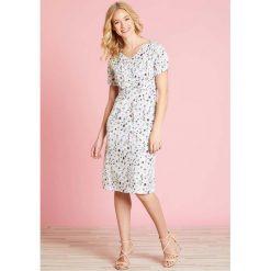 Sukienki hiszpanki: Półdługa roszerzana sukienka w kwiatki