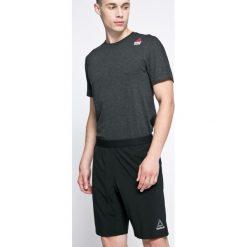 Reebok - Szorty. Czarne spodenki sportowe męskie marki Reebok, z elastanu, sportowe. W wyprzedaży za 149,90 zł.