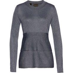 Swetry klasyczne damskie: Sweter z baskinką bonprix ciemnoniebieski