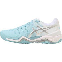 ASICS GEL RESOLUTION 7 CLAY Obuwie do tenisa Outdoor porcelain blue/silver/white. Niebieskie buty sportowe damskie Asics, z materiału, na golfa. W wyprzedaży za 405,30 zł.