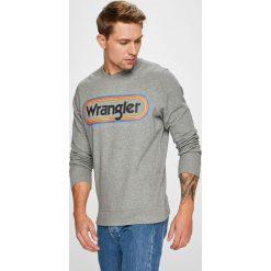 Wrangler - Bluza. Szare bejsbolówki męskie Wrangler, l, z nadrukiem, z bawełny, bez kaptura. Za 219,90 zł.