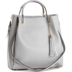 Torebka CREOLE - K10385  Szary. Szare torebki klasyczne damskie Creole, ze skóry. W wyprzedaży za 239,00 zł.