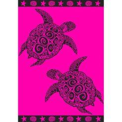 """Kąpielówki męskie: Ręcznik plażowy """"Margarita"""" w kolorze różowo-czarnym – 200 x 140 cm"""