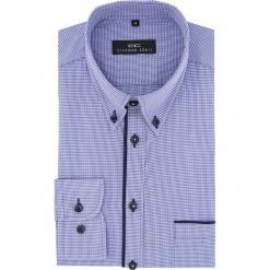 Koszula  BIAGIO slim 16-01-30-K. Niebieskie koszule męskie na spinki marki Giacomo Conti, m, w kratkę, z bawełny, button down, z długim rękawem. Za 149,00 zł.