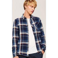 Koszula w kratę - Wielobarwn. Szare koszule męskie marki House, l, z bawełny. Za 89,99 zł.