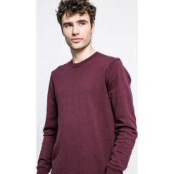 Bench - Sweter. Brązowe swetry klasyczne męskie marki Bench, l, z bawełny, z okrągłym kołnierzem. W wyprzedaży za 99,90 zł.