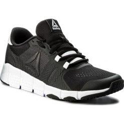 Buty Reebok - Trainflex 2.0 CN0949 Black/White. Szare buty do fitnessu damskie marki Reebok, l, z dzianiny, z okrągłym kołnierzem. W wyprzedaży za 199,00 zł.