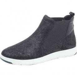 Skórzane sneakersy w kolorze czarnym. Czarne sneakersy damskie Caprice. W wyprzedaży za 181,95 zł.