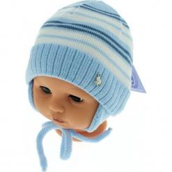 Czapka niemowlęca podszyta bawełną cz-059C. Szare czapeczki niemowlęce Proman, z bawełny. Za 29,56 zł.