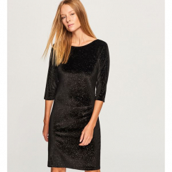 Welurowa sukienka - Czarny. Czarne sukienki marki Reserved, l, z weluru. Za 79,99 zł.