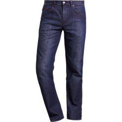BOSS ATHLEISURE KANSAS Jeansy Straight Leg navy. Niebieskie jeansy męskie marki BOSS Athleisure, m. W wyprzedaży za 494,10 zł.