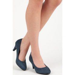 Buty ślubne damskie: ZAMSZOWE CZÓŁENKA  BELLA STAR niebieskie