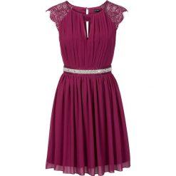 Sukienki: Sukienka z koronką bonprix jeżynowy