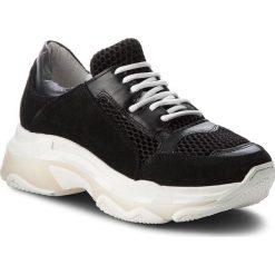 Sneakersy HEGO'S MILANO - 1042 Camoscio Nero. Czarne sneakersy damskie Hego's Milano, z materiału. W wyprzedaży za 299,00 zł.