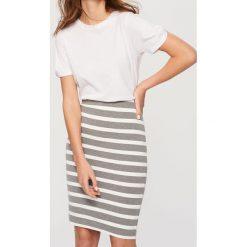 Spódniczki: Ołówkowa spódnica – Jasny szar