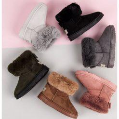 ŚNIEGOWCE Z KOKARDKĄ Caroline. Czerwone buty zimowe damskie BELLA PARIS. Za 78,90 zł.