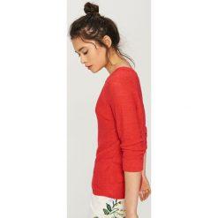 Swetry damskie: Sweter - Pomarańczo