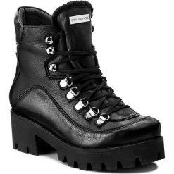 Botki EVA MINGE - Milagros 2X 17SM1372230EF 101. Czarne buty zimowe damskie Eva Minge, ze skóry, na obcasie. W wyprzedaży za 259,00 zł.