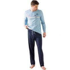 Piżamy męskie: Piżama z długimi nogawkami, z nadrukiem na piersi