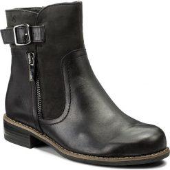 Botki CAPRICE - 9-26354-29 Black Comb 019. Czarne botki damskie na obcasie Caprice, z nubiku. W wyprzedaży za 259,00 zł.
