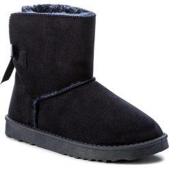 Buty JENNY FAIRY - WS1655-8 Granatowy. Niebieskie buty zimowe damskie Jenny Fairy, z materiału. Za 79,99 zł.