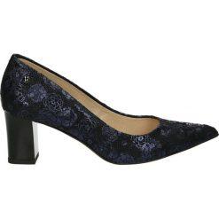 Czółenka - 4400 PRC20 BL. Czarne buty ślubne damskie Venezia, ze skóry. Za 319,00 zł.