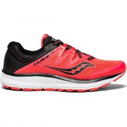 """Buty sportowe """"Guide Iso"""" w kolorze czerwonym. Czerwone buty sportowe damskie Saucony, z materiału. W wyprzedaży za 309,95 zł."""
