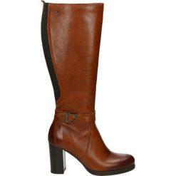 Kozaki - 67007 PEL WHI. Czarne buty zimowe damskie marki Venezia, z materiału, na obcasie. Za 499,00 zł.