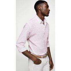 Mango Man - Koszula Liberto. Szare koszule męskie na spinki marki S.Oliver, l, z bawełny, z włoskim kołnierzykiem, z długim rękawem. W wyprzedaży za 99,90 zł.
