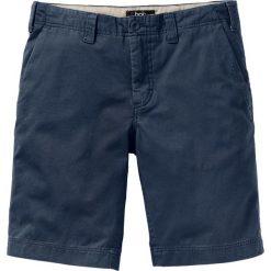 Bermudy chino Regular Fit bonprix ciemnoniebieski. Niebieskie bermudy męskie bonprix. Za 69,99 zł.