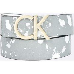 Calvin Klein - Pasek skórzany. Szare paski damskie Calvin Klein, w paski, z materiału. Za 269,90 zł.