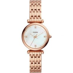 Fossil - Zegarek ES4429. Różowe zegarki damskie marki Fossil, szklane. Za 599,90 zł.