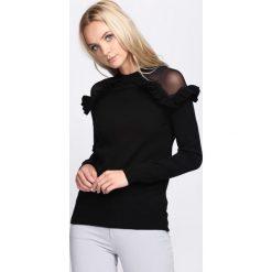 Czarny Sweter Hold On Hope. Czarne swetry klasyczne damskie Born2be, l, z krótkim rękawem. Za 89,99 zł.