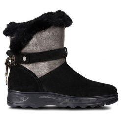 Geox - Śniegowce. Czarne śniegowce damskie Geox, z gumy. Za 599,90 zł.