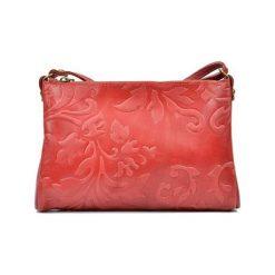 Torebki i plecaki damskie: Skórzana torebka w kolorze czerwonym – (S)24 x (W)18 x (G)2 cm