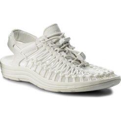 Sandały KEEN - Uneek 1014100 Star White. Białe sandały damskie Keen, z materiału. W wyprzedaży za 269,00 zł.