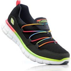Buty sportowe wsuwane Skechers z pianką Memory bonprix czarno-kolorowy. Czarne buty sportowe męskie marki Asics, do piłki nożnej. Za 239,99 zł.