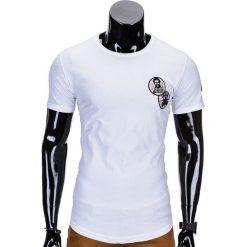 T-shirty męskie: T-SHIRT MĘSKI Z NADRUKIEM S726 – BIAŁY